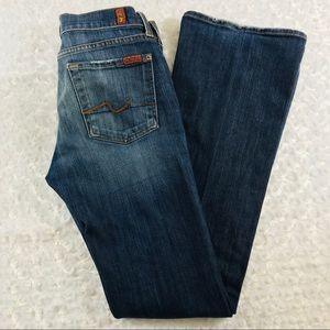 7FAMK 7 For All Mankind Women Distressed Jeans 28